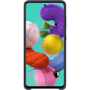 Silikónové púzdro pre Galaxy A51, čierne