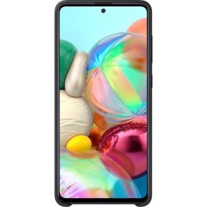 Silikónové púzdro pre Galaxy A71, čierne