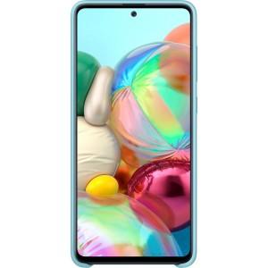 Silikónové púzdro pre Galaxy A71, modré