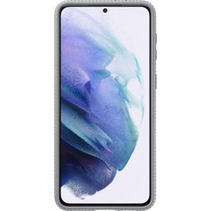 Samsung tvrdený ochranný zadný kryt so stojankom EF-RG996CJE pre S21+, šedé