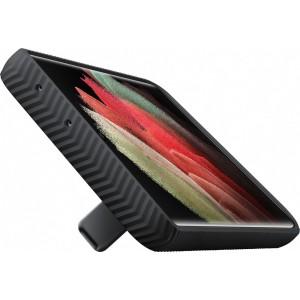 Samsung tvrdený ochranný zadný kryt so stojankom EF-RG998CBE pre S21Ultra, čierne