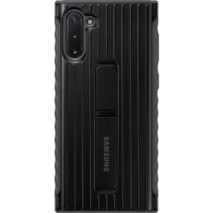 Tvrdený ochranný zadný kryt so stojankom pre Galaxy Note10, čierny