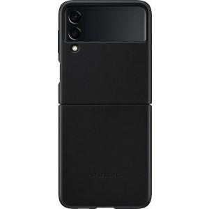 Samsung kožený zadný kryt pre Z Flip3, čierny