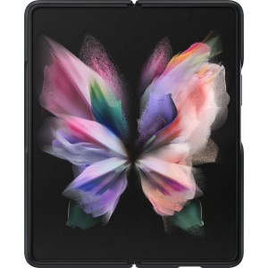 Samsung kožený zadný kryt pre Z Fold3, čierny