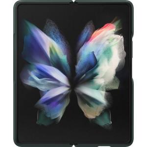 Samsung kožený zadný kryt pre Z Fold3, zelený