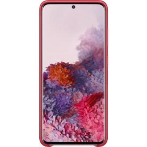 Samsung EF-VG980LR Leather Cover pre Galaxy S20, červené