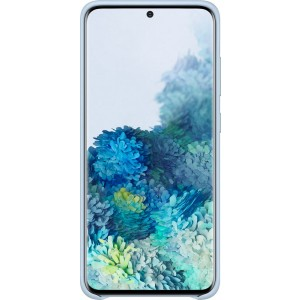 Samsung EF-VG980LL Leather Cover pre Galaxy S20, modré