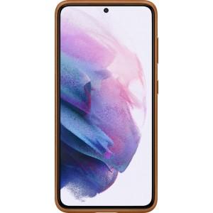 Samsung koženný zadný kryt EF-VG991LAE pre S21, hnedé