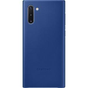 Koženný zadný kryt pre Galaxy Note10, modrý