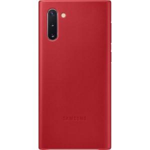 Koženný zadný kryt pre Galaxy Note10, červený