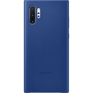 Koženný zadný kryt pre Galaxy Note10+, modrý