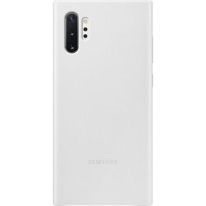 Koženný zadný kryt pre Galaxy Note10+, biely