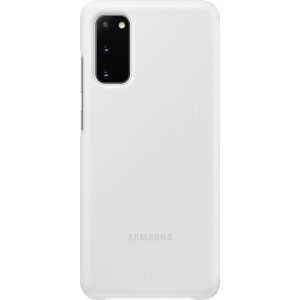 Samsung EF-ZG980CW Clear view cover pre Galaxy S20, biely