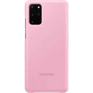 Samsung EF-ZG985CP Clear view cover pre Galaxy S20+, ružové