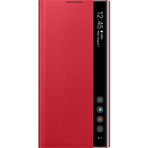Flipové puzdro Clear View pre Galaxy Note10, červené