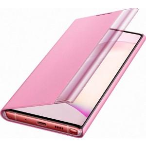 Flipové puzdro Clear View pre Galaxy Note10, ružové