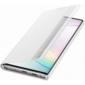Flipové puzdro Clear View pre Galaxy Note10, biele