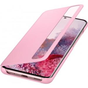 Samsung EF-ZG980CP Clear view cover pre Galaxy S20, ružové