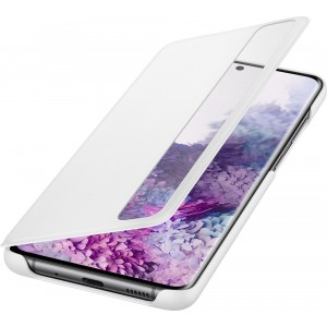 Samsung EF-ZG985CW Clear view cover pre Galaxy S20+, biely