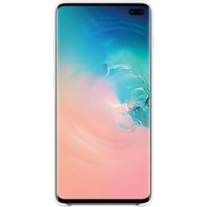 Samsung Silicone Cover EF-PG975TW pre Galaxy S10+, biele
